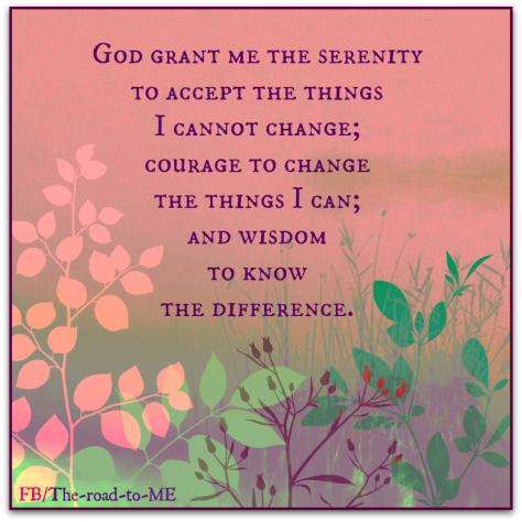 Serenity Prayer for The Road to Me Blog Post