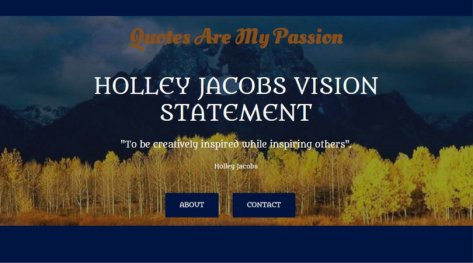 Quotes Are My Passion Website Header