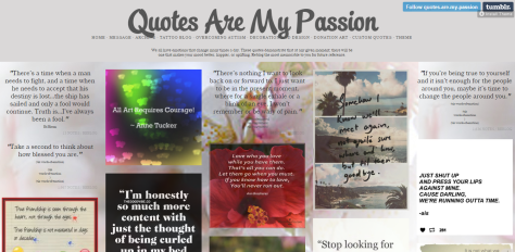 Picture of Quotes Are My Passion Screen Shot