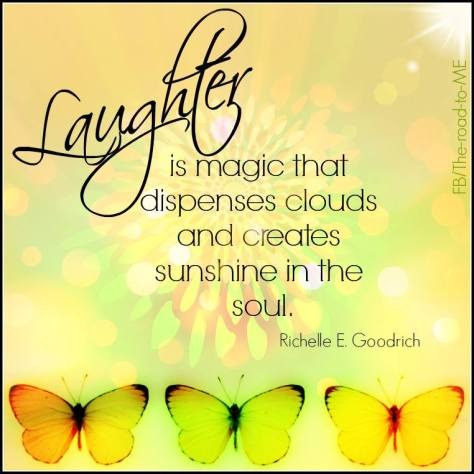 laughter causes happiness